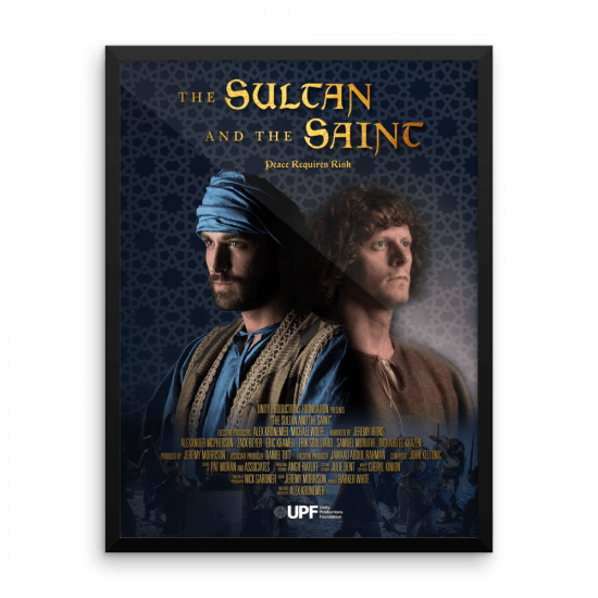 sultan and the saint framed movie-poster 1 18 x 24